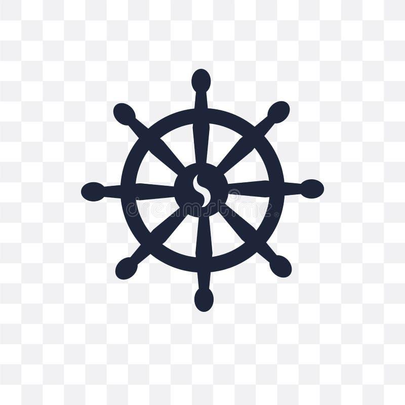 Icona trasparente di buddismo Progettazione di simbolo di buddismo dalla religione illustrazione vettoriale