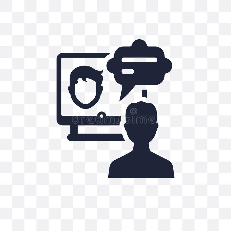 Icona trasparente di corso online Progettazione online di simbolo di corso da illustrazione vettoriale