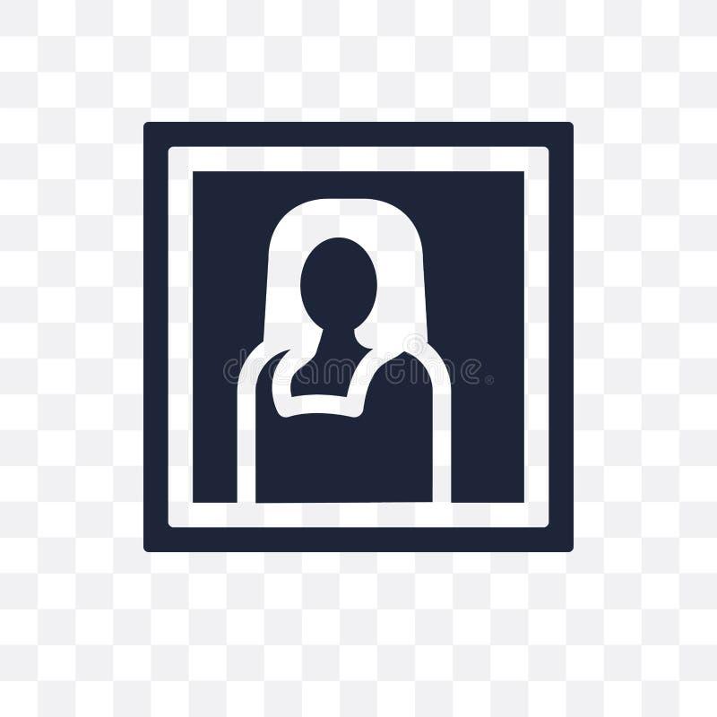 Icona trasparente di Gioconda Progettazione di simbolo di Gioconda dal museo co royalty illustrazione gratis