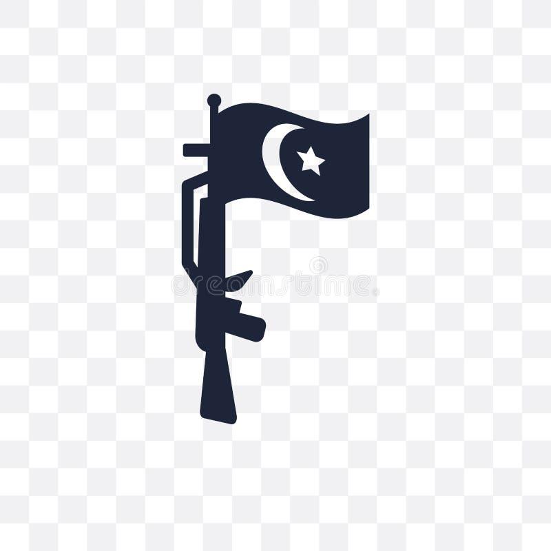 icona trasparente di Jihad progettazione di simbolo di Jihad dal collec di religione royalty illustrazione gratis