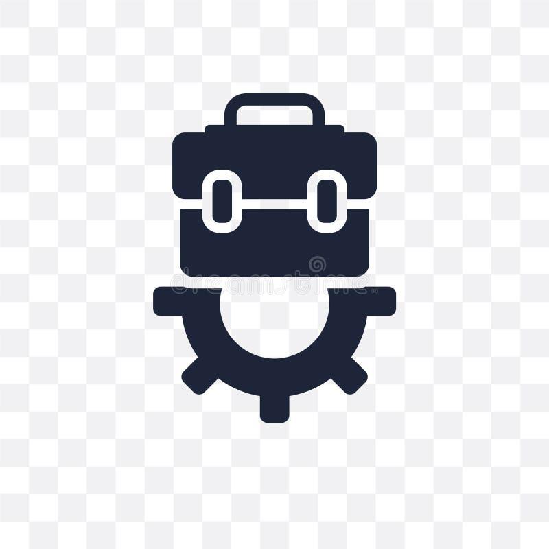 Icona trasparente di lavoro Progettazione di simbolo di lavoro dal passo delle risorse umane royalty illustrazione gratis