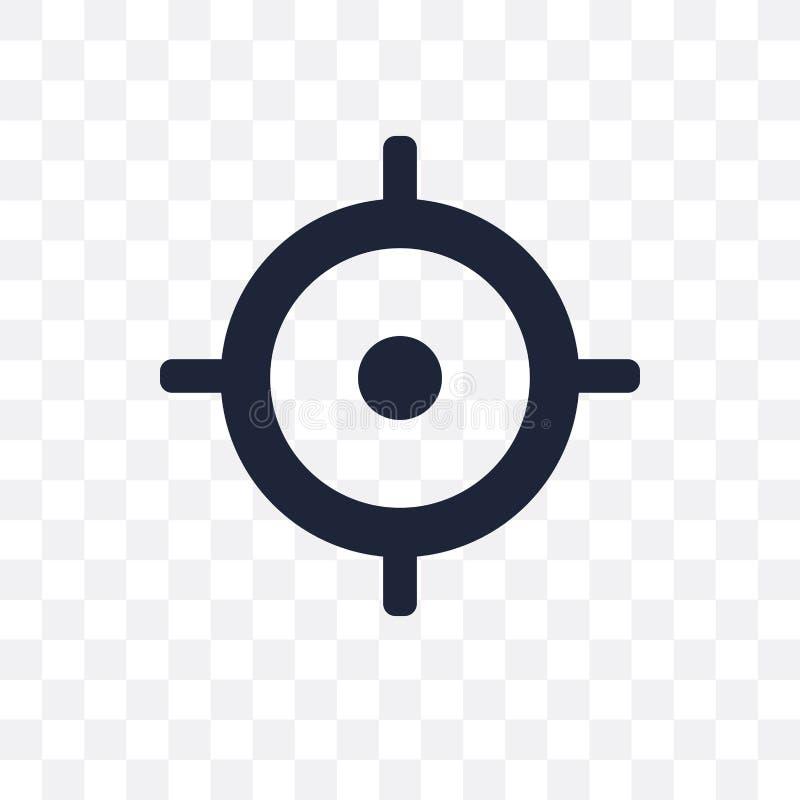 Icona trasparente di missione Progettazione di simbolo di missione dall'affare co illustrazione di stock