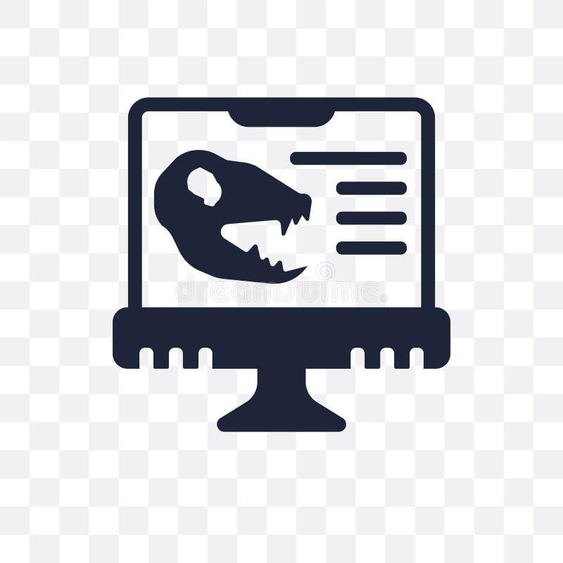 Icona trasparente di paleontologia Progettazione di simbolo di paleontologia dalla O royalty illustrazione gratis