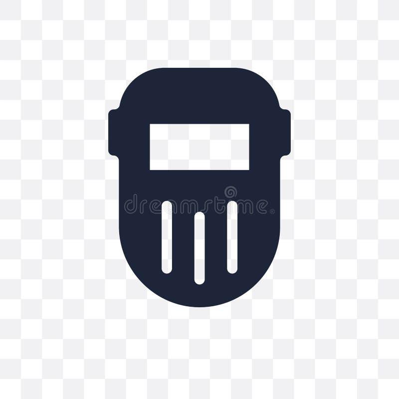 Icona trasparente di saldatura Progettazione di simbolo di saldatura da Constructio royalty illustrazione gratis
