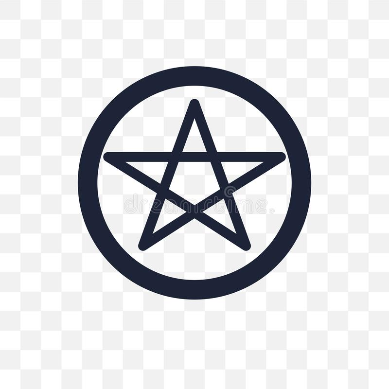 Icona trasparente di satanismo Progettazione di simbolo di satanismo dalla religione illustrazione di stock