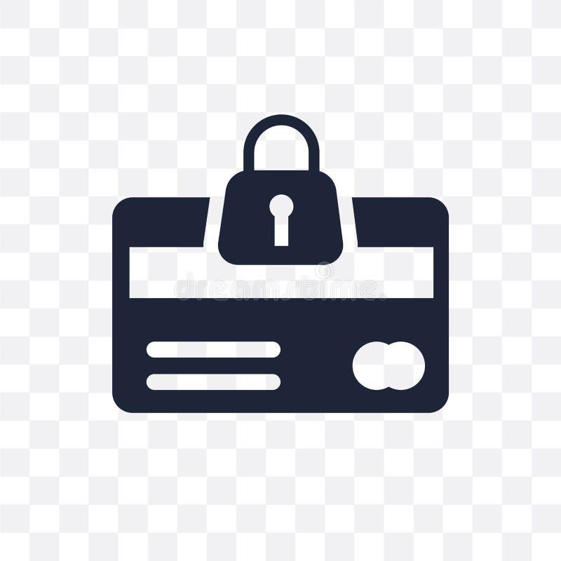 Icona trasparente di sicurezza della carta di credito Symb di sicurezza della carta di credito illustrazione vettoriale