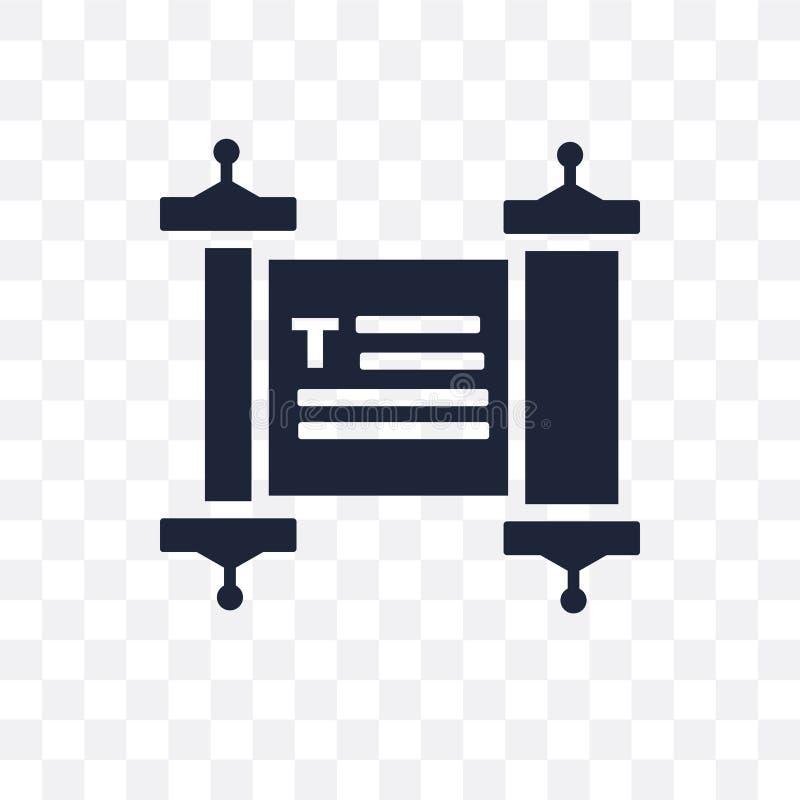 Icona trasparente di Torah Progettazione di simbolo di Torah dal collec di religione illustrazione vettoriale