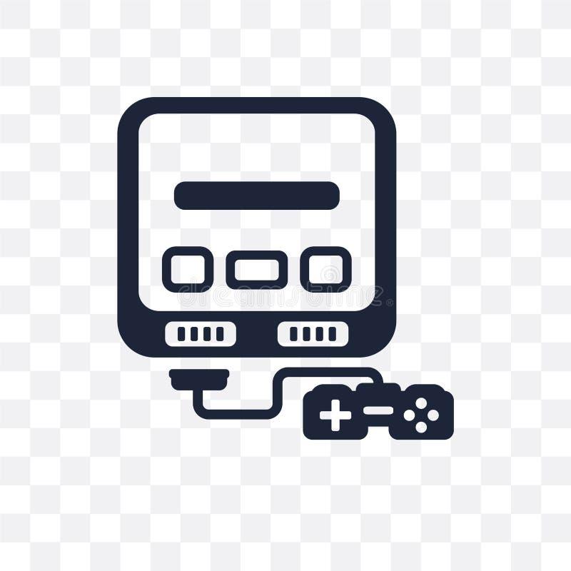 Icona trasparente eccellente di Nintendo Progettazione eccellente franco di simbolo di Nintendo illustrazione vettoriale