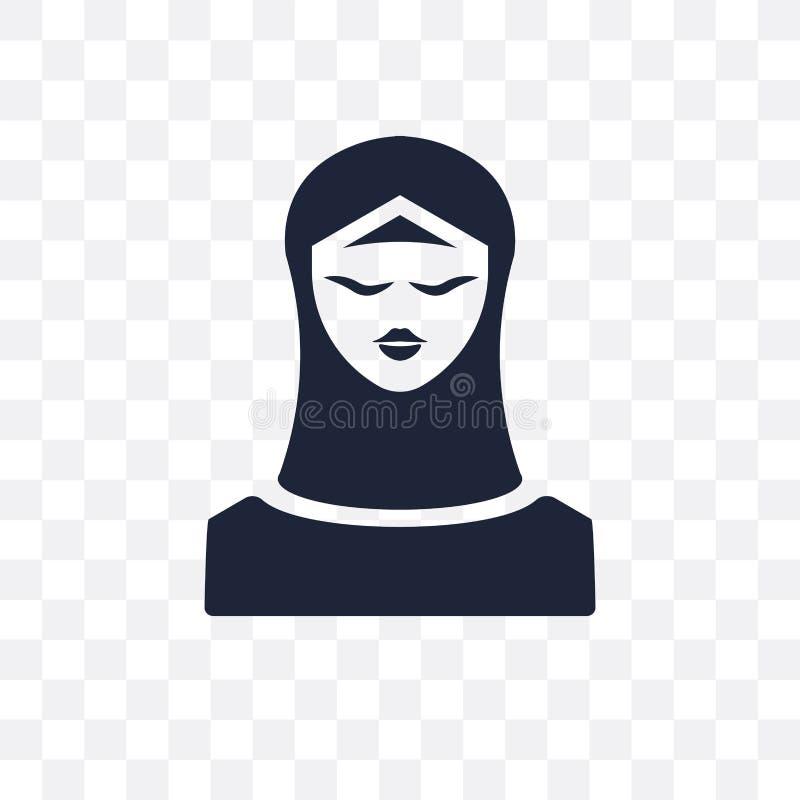 Icona trasparente musulmana Progettazione musulmana di simbolo dal coll di religione illustrazione vettoriale