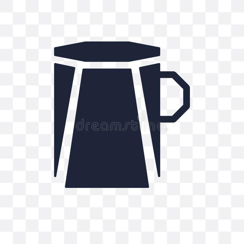 Icona trasparente poligonale della tazza di caffè Symb poligonale della tazza di caffè royalty illustrazione gratis