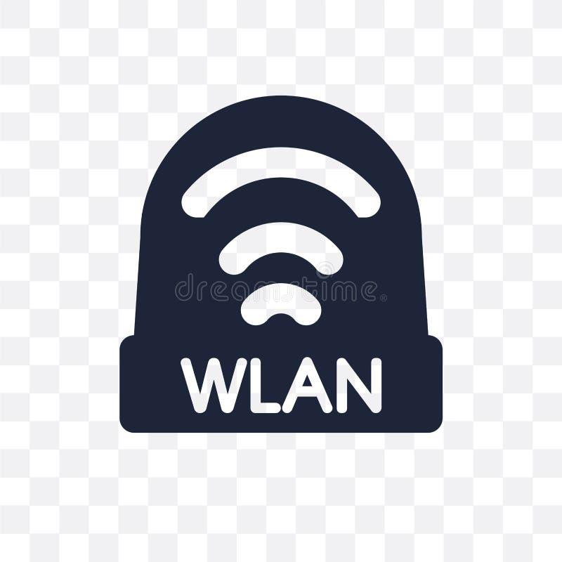 icona trasparente wlan progettazione wlan di simbolo dal collec della rete illustrazione vettoriale