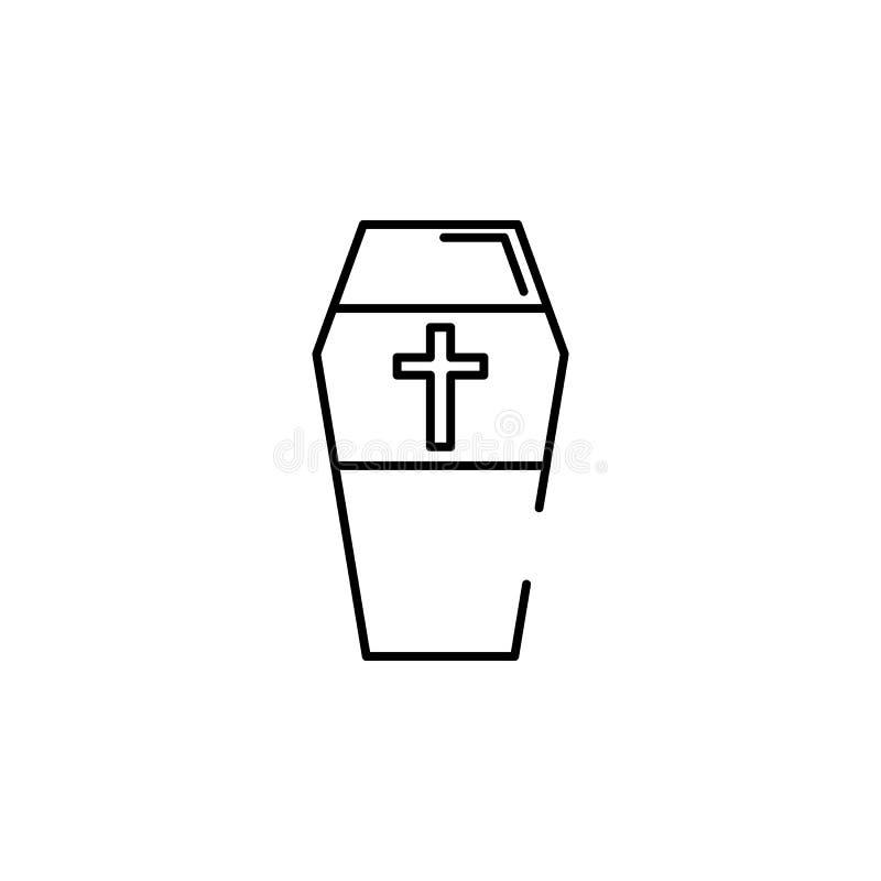 icona trasversale della bara Elemento dell'illustrazione di Halloween Icona premio di progettazione grafica di qualità Segni ed i illustrazione vettoriale