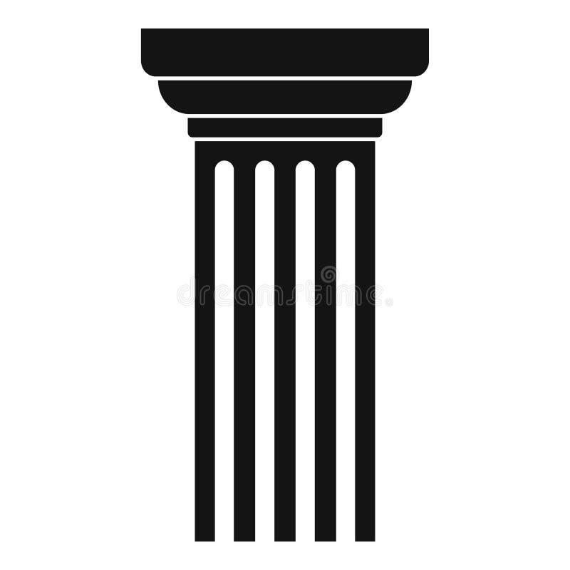 Icona triangolare della colonna, stile semplice illustrazione vettoriale