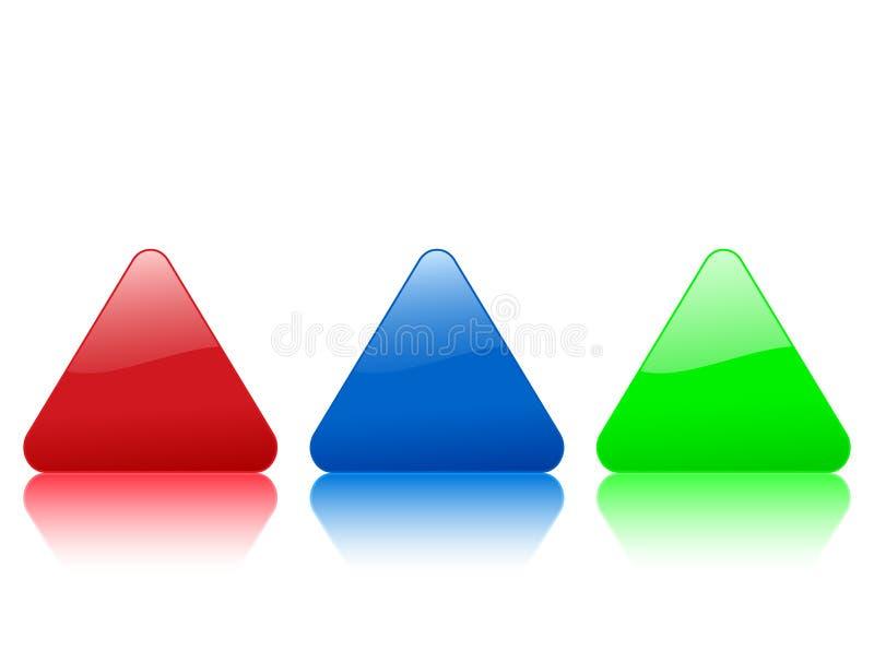 Icona triangolare di colore royalty illustrazione gratis