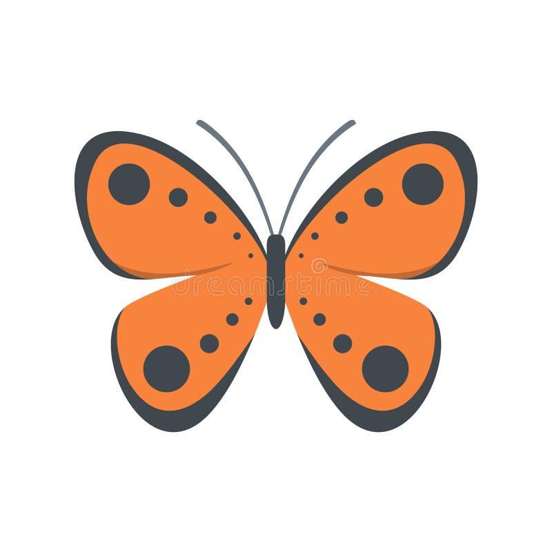 Icona tropicale della farfalla, stile piano illustrazione vettoriale