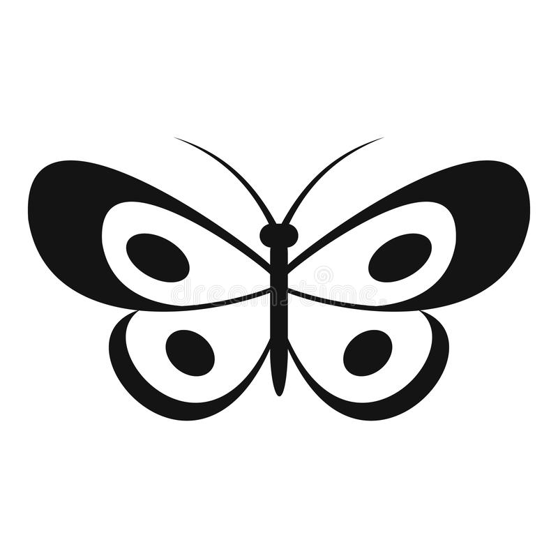 Icona tropicale della farfalla, stile semplice illustrazione di stock