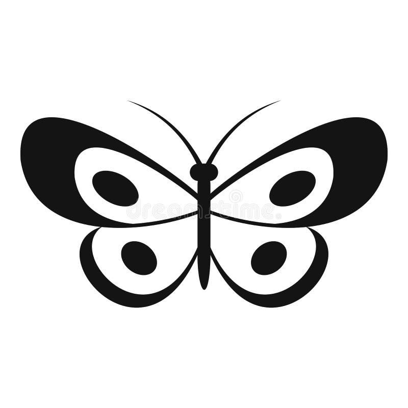 Icona tropicale della farfalla, stile semplice royalty illustrazione gratis
