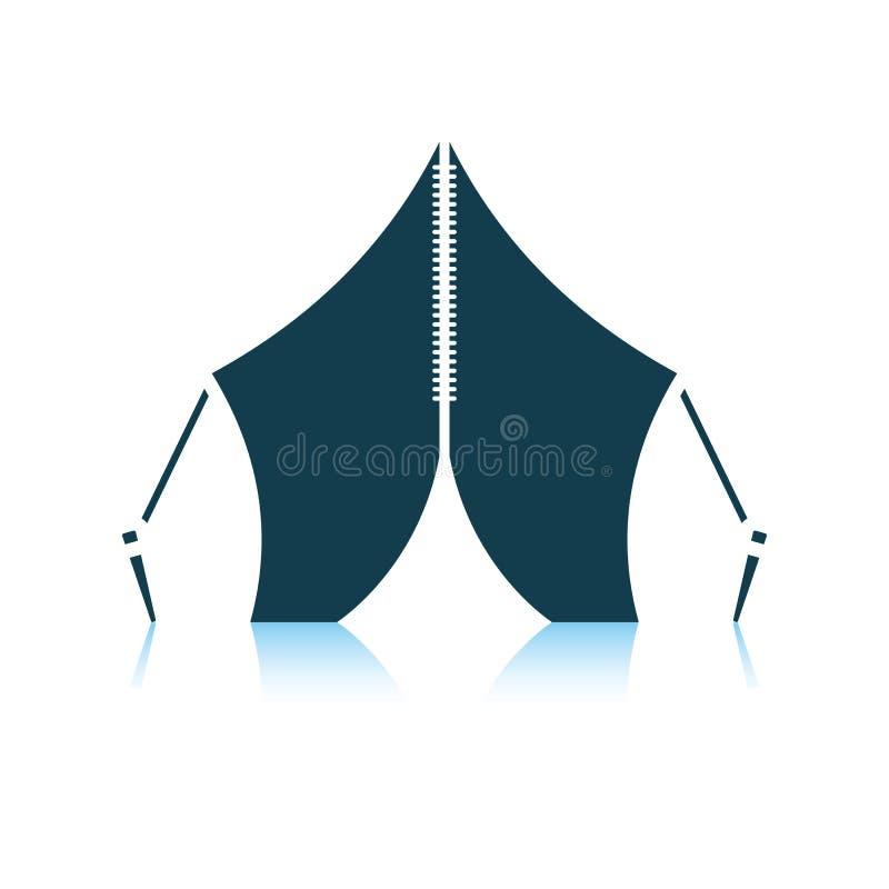 Icona turistica della tenda royalty illustrazione gratis