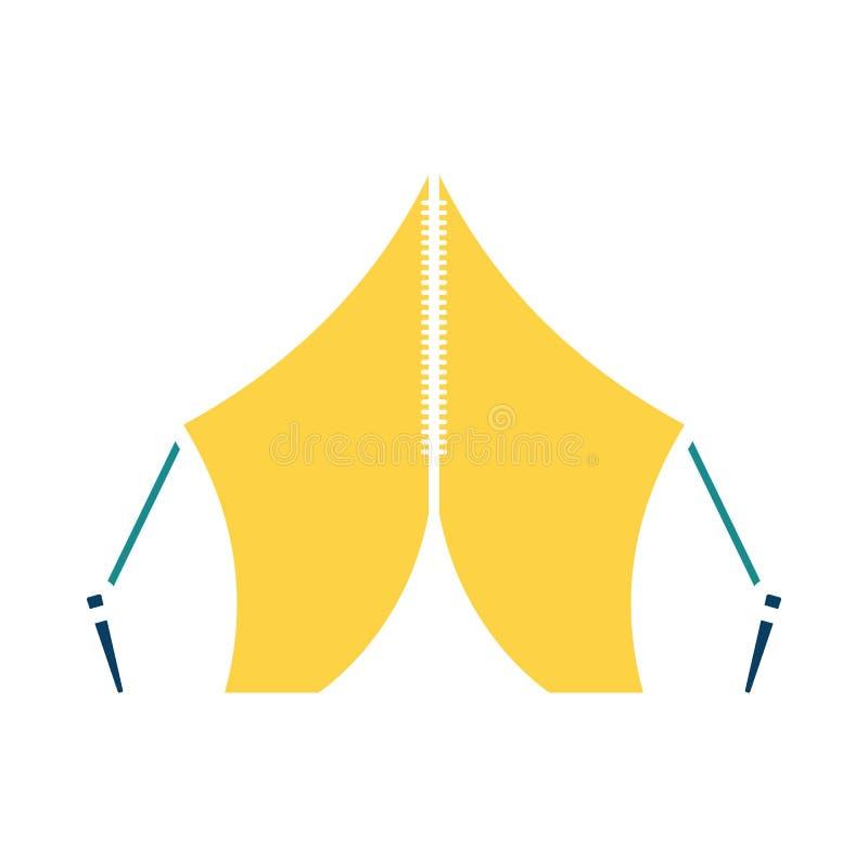 Icona turistica della tenda illustrazione vettoriale