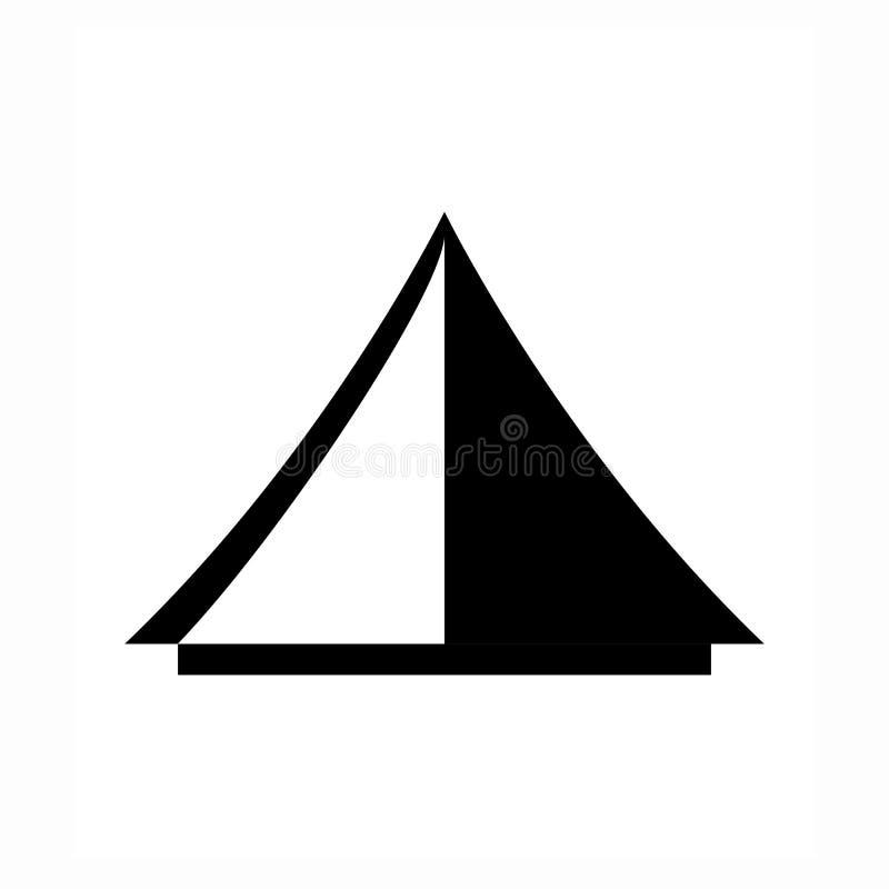 Icona turistica di vettore della tenda illustrazione di stock