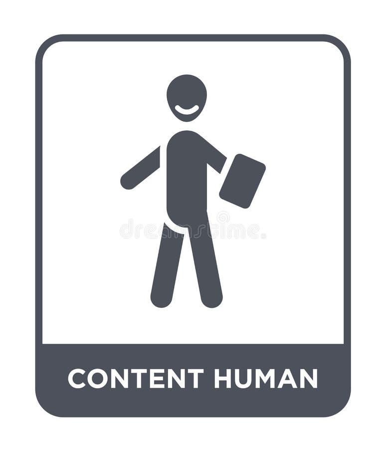 icona umana contenta nello stile d'avanguardia di progettazione icona umana contenta isolata su fondo bianco icona umana contenta royalty illustrazione gratis