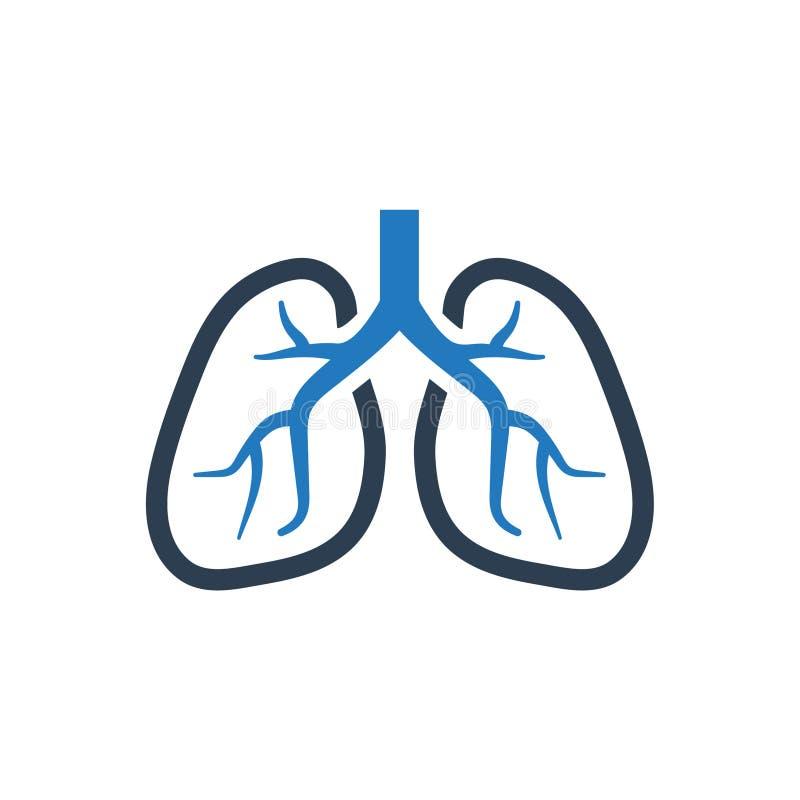 Icona umana dei polmoni illustrazione di stock