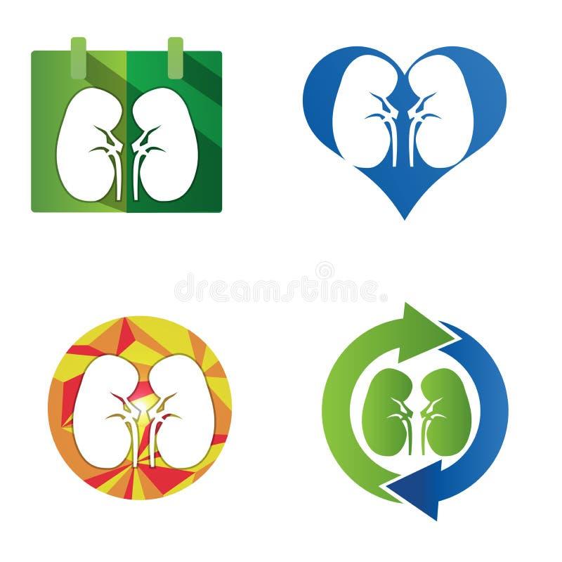 Icona umana dei reni illustrazione vettoriale