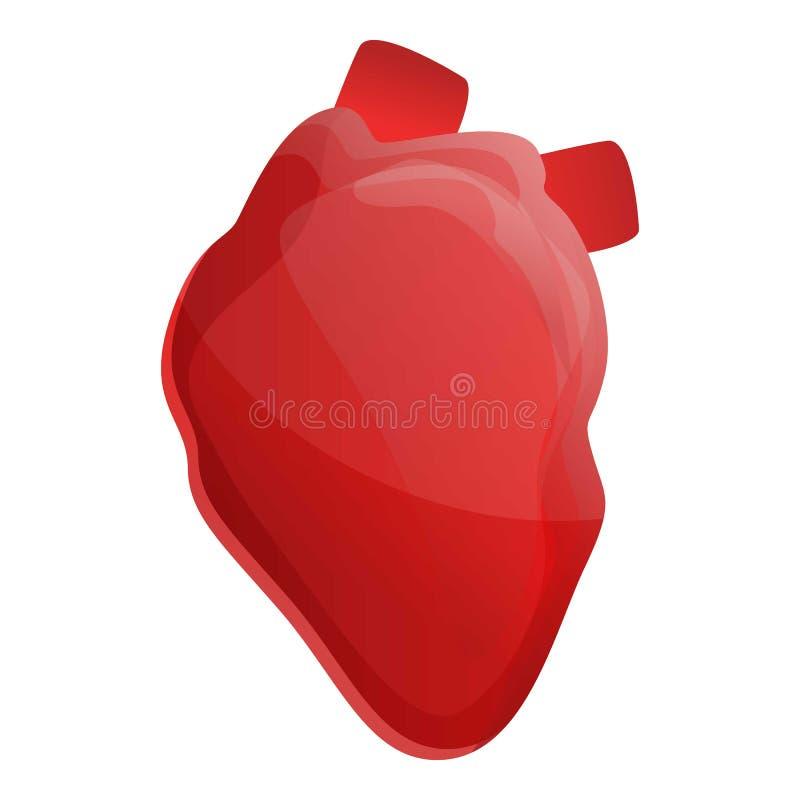 Icona umana del cuore, stile del fumetto illustrazione di stock