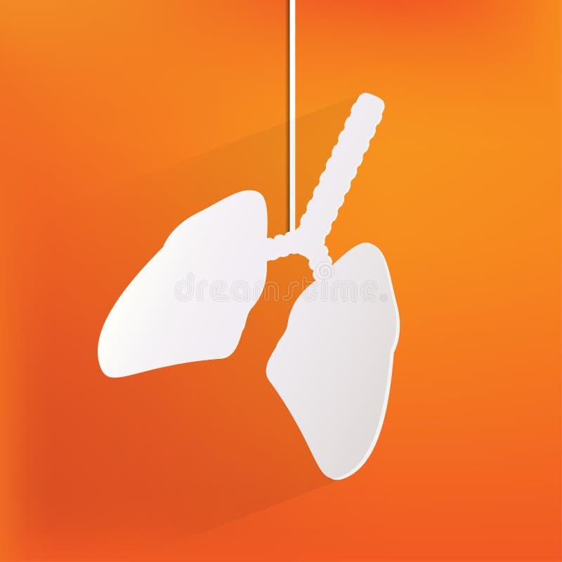 Icona umana del polmone. Fondo medico. Sanità illustrazione vettoriale
