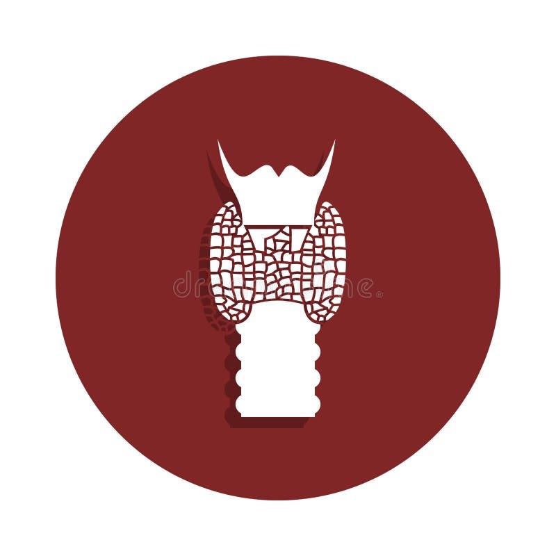 icona umana della gola nello stile del distintivo Uno dell'icona della raccolta dell'organo può essere usato per UI, UX illustrazione vettoriale