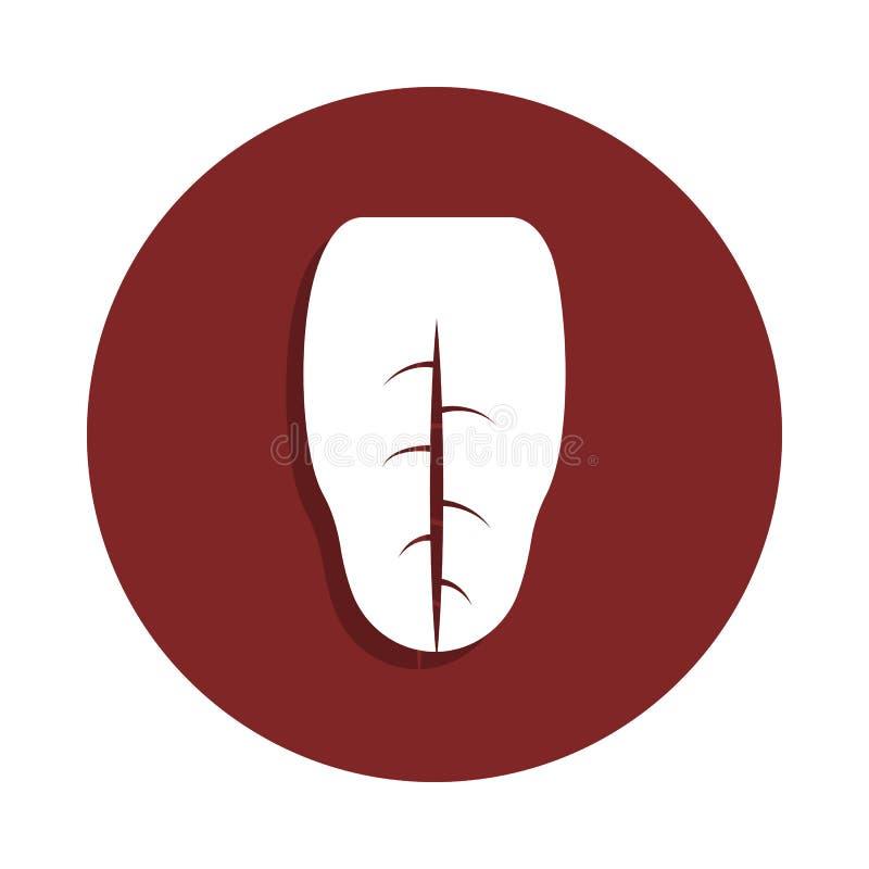 icona umana di lingua nello stile del distintivo Uno dell'icona della raccolta dell'organo può essere usato per UI, UX royalty illustrazione gratis