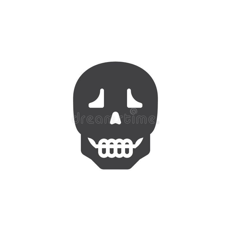 Icona umana di vettore del cranio illustrazione vettoriale