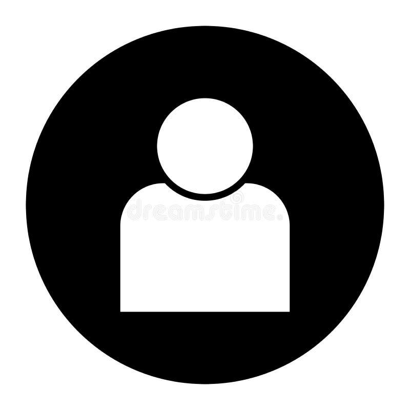 Icona umana di vettore nel cerchio nero illustrazione vettoriale
