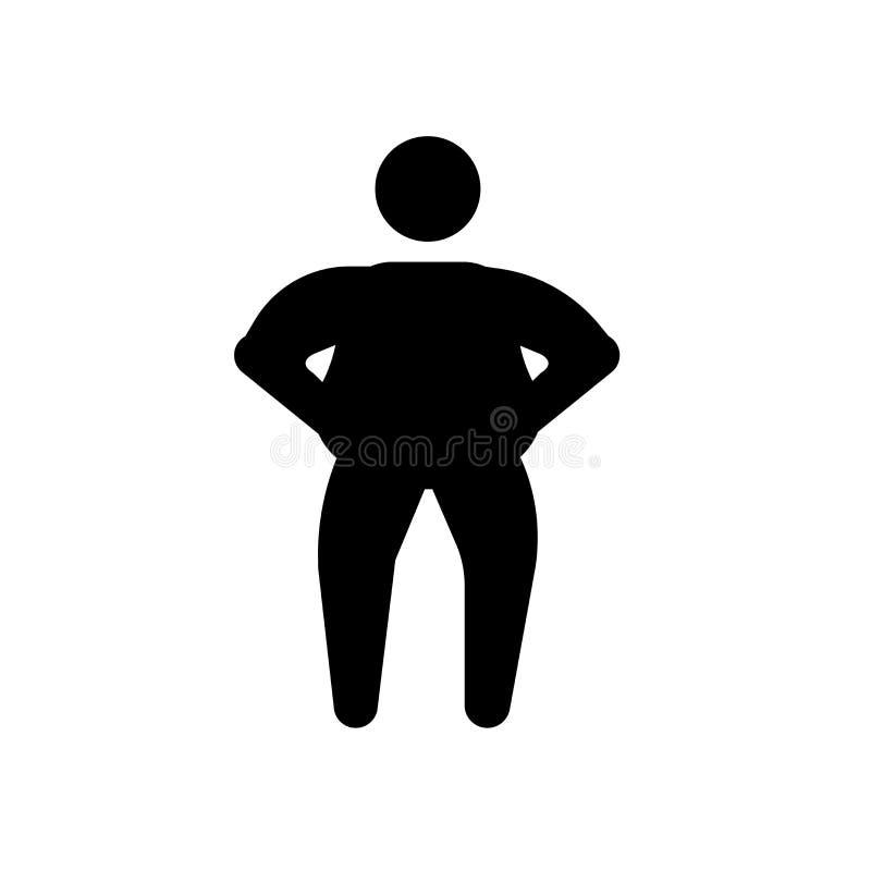 icona umana grassa Concetto umano grasso d'avanguardia di logo su backgroun bianco royalty illustrazione gratis