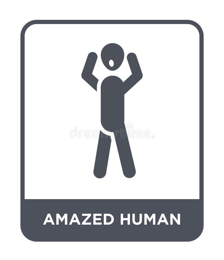 icona umana stupita nello stile d'avanguardia di progettazione icona umana stupita isolata su fondo bianco icona umana stupita di illustrazione di stock
