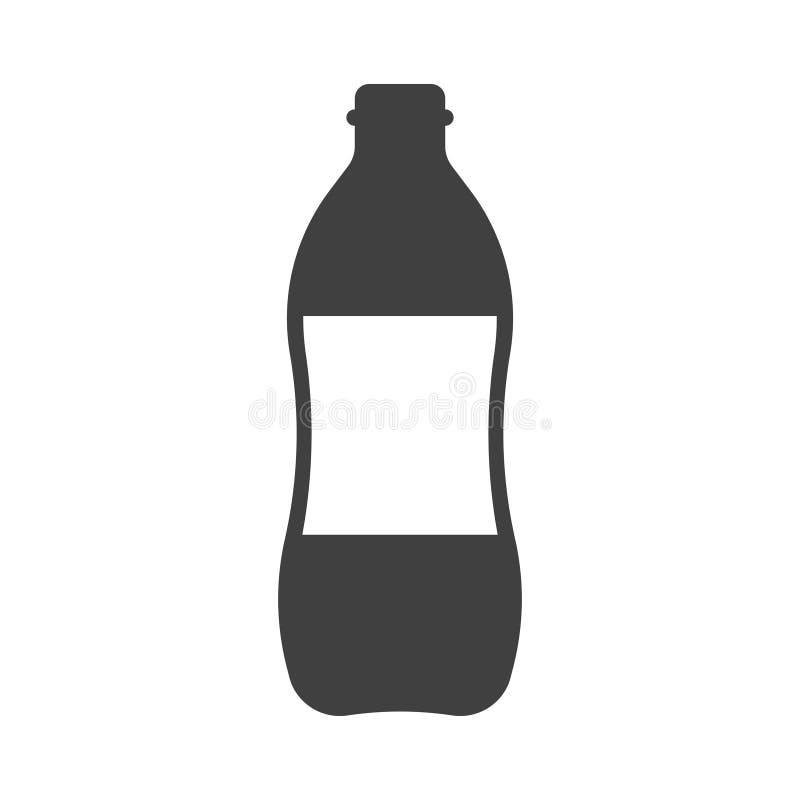 Icona una bottiglia di acqua Vettore su fondo bianco royalty illustrazione gratis