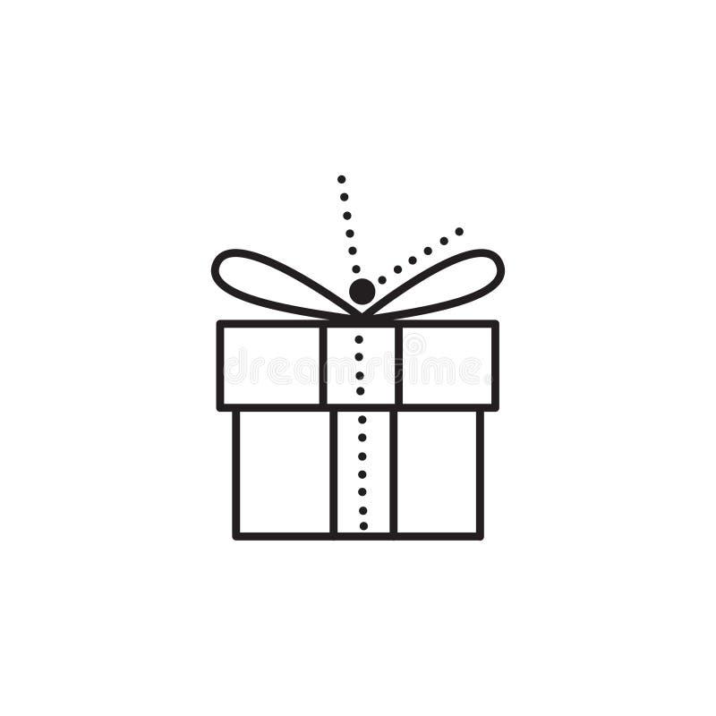 Icona unica di vettore del regalo di Natale immagine stock libera da diritti