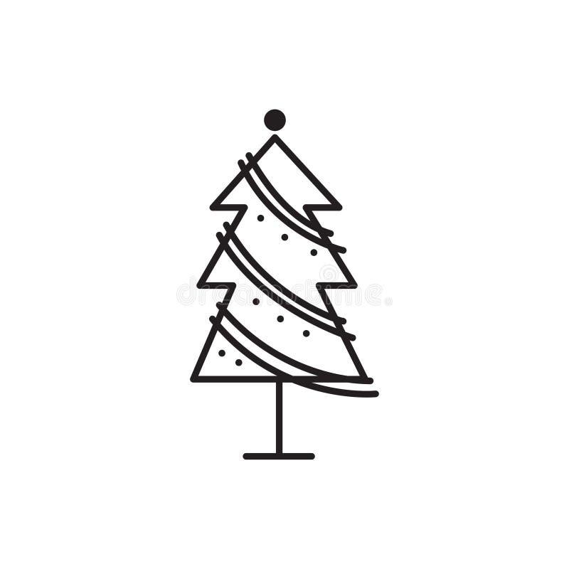 Icona unica di vettore dell'albero di Natale fotografia stock libera da diritti