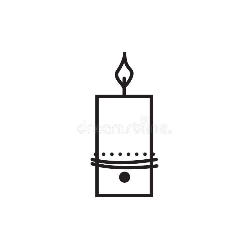 Icona unica di vettore della candela di festa fotografia stock