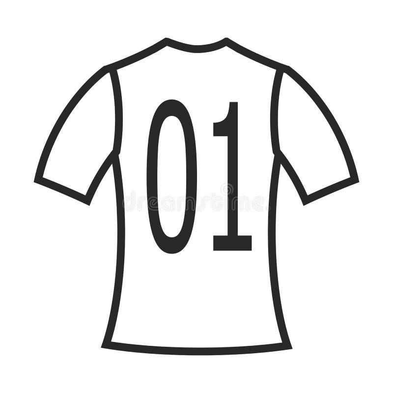 Icona uniforme di calcio royalty illustrazione gratis