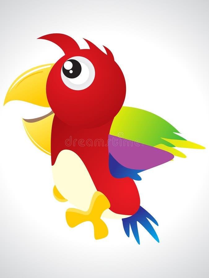 Icona variopinta astratta dell'uccello illustrazione di stock