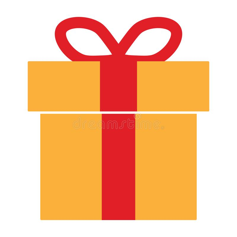 Icona variopinta del contenitore di regalo illustrazione vettoriale