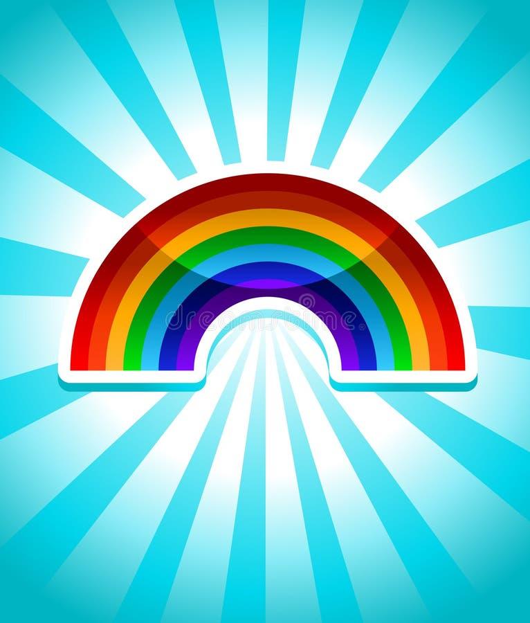 Icona variopinta del Rainbow illustrazione vettoriale