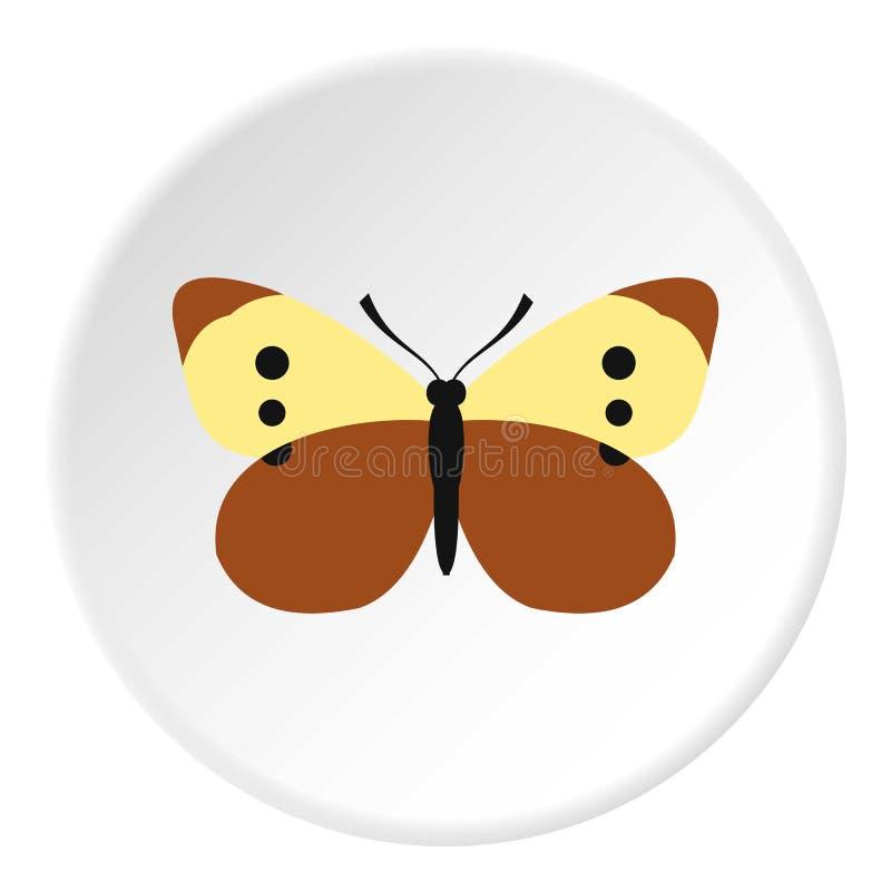 Icona variopinta della farfalla, stile piano illustrazione vettoriale