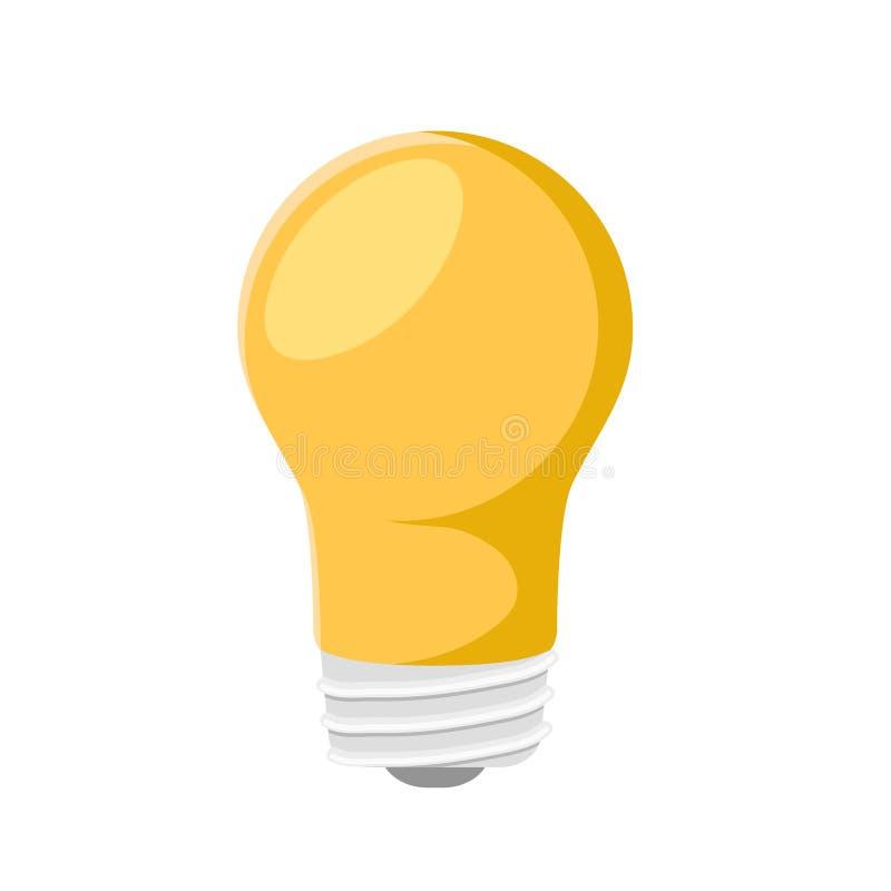 Icona variopinta della lampadina sull'illustrazione bianca e di riserva di vettore illustrazione di stock