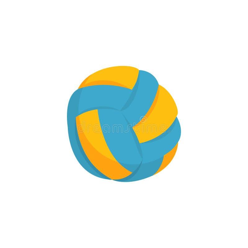 Icona variopinta della palla di beach volley isolata su bianco illustrazione vettoriale
