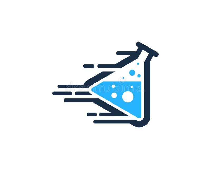 Icona veloce Logo Design Element del laboratorio di scienza di velocità royalty illustrazione gratis