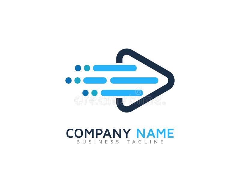 Icona veloce Logo Design Element di velocità video illustrazione vettoriale