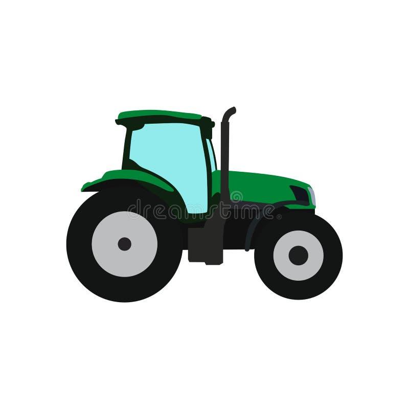 Icona verde del trattore di vettore Illustrazione isolata royalty illustrazione gratis
