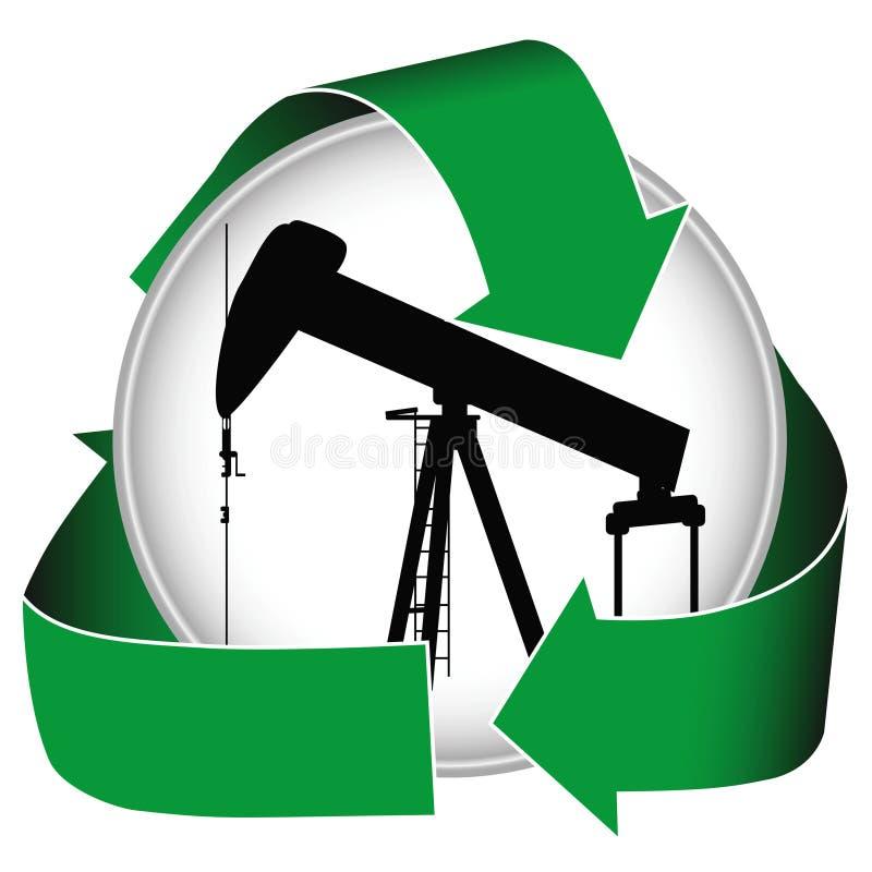 Icona verde dell'olio royalty illustrazione gratis